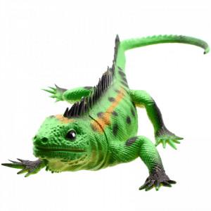Figurina Reptila, Iguana, Verde, 23 cm