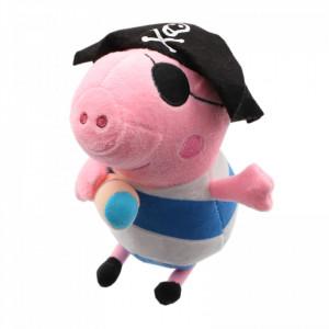 Jucarie de plus, Peppa Pig, George Pirat, 20 cm, Roz