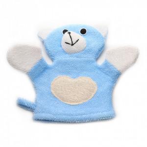Manusa de baie pentru copii, Ursulet, Bleu