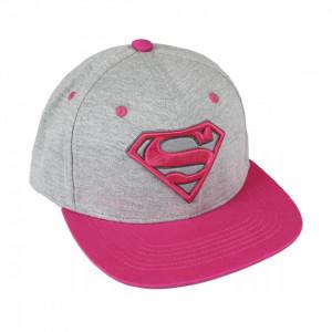 Sapca Superman cu logo brodat, Roz, 57 / 59 cm