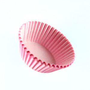 Set 100 bucati, forme de copt din hartie pentru briose, 8cm, Roz