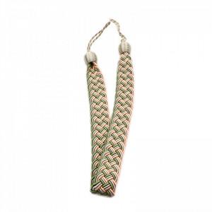 Set 2 buc, Accesorii strangere perdea si draperie, model cordon plat, 95 x 4 cm, Multicolor
