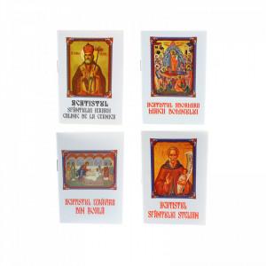 Set 4 buc, Acatistul Adormirii Maicii Domnului, Acatistul Sf. Ierarh Calinic de la Cernica, Acatistul izbavirii din boala si Acatistul Sf. Stelian - Ocrotitorul copiilor