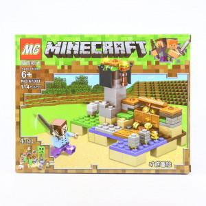 Set de constructie Lego, Cufarul cu comori tip Minecraft, 114 Piese