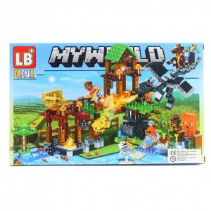 Set de constructie Lego, Marea sabie de aur tip Minecraft, 168 Piese