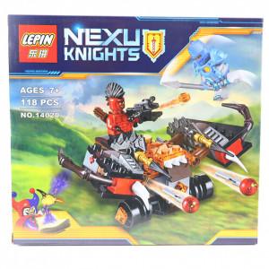 Set de constructie Lego, Masina de razboi tip Nexo Nights, 118 piese