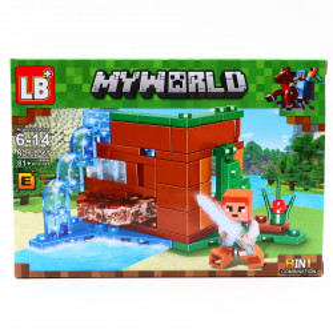 Set de constructie, Minecraft si sabia de cristal din Elmor, 81 piese