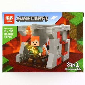 Set de constructie, tip Minecraft, Sabia fulger , 92 piese