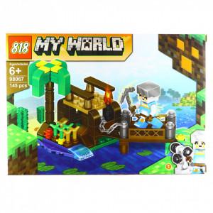 Set de constructie, tip My World, Podul de piatra, 145 piese