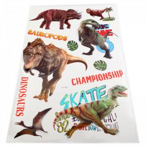 Set Stiker 3D, Dinozauri pentru copii, decor, FL-002 Multicolor