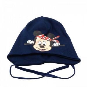 Caciula pentru baieti, imprimeu Mickey Mouse, 1-3 ani, Bleumarin