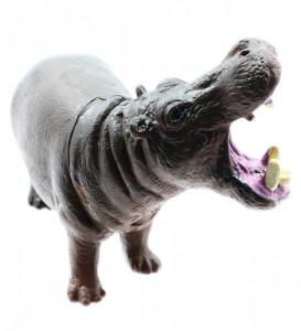 Figurina animal salbatic, Hipopotam, 9 cm