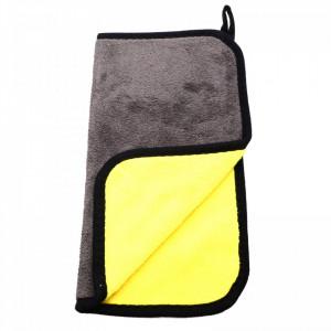 Laveta din microfibra, absorbanta, pentru toate suprafetele, 30 x30 cm, Gri cu galben
