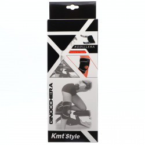 Orteza elastica pentru genunchi, sistem inchidere cu arici, ofera confort si siguranta, Neopren, marime universala, Negru