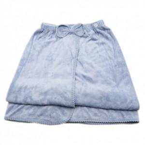 Prosop de baie, pentru femei, tip rochita, prindere cu arici sau nasture, 140 x 80 cm, Bleu