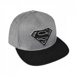 Sapca Superman cu logo brodat, Gri, 57 / 59 cm