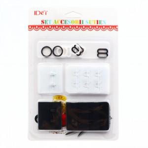 Set accesorii pentru sutien mos si baba, alb si negru