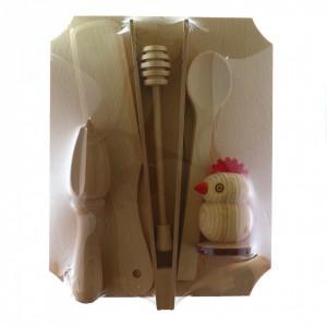 Set bucatarie lemn, tocator si accesorii pentru bucatarie
