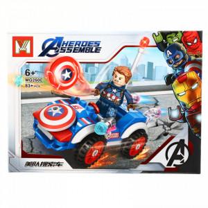 Set de constructie, Avengers si Capitanul America, 83 piese