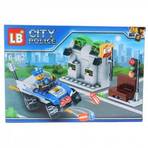 Set de constructie Lego, Benzinarie cu masina de pilitie, 189 piese
