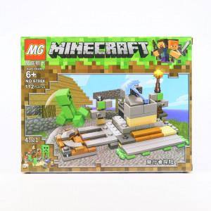 Set de constructie Lego, Zombie si tarnacopul de diamant tip Minecraft, 112 Piese