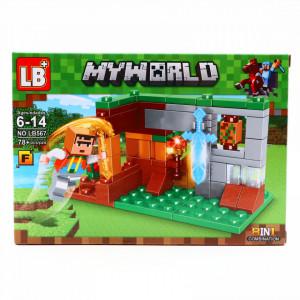 Set de constructie, Minecraft si tarnacopul de aur, 78 piese
