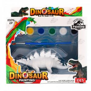 Set de Pictat Figurina in miniatura Dinozaur - Stegosaurus, tempera, culori acrilice, 15 cm
