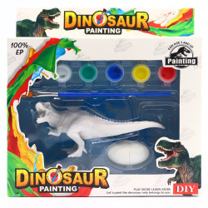 Set de Pictat Figurina in miniatura Dinozaur - TREX, tempera, culori acrilice