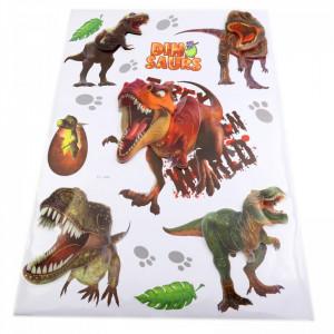 Set Stiker 3D, Dinozauri pentru copii, decor, FL-004 Multicolor