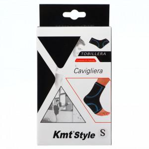 Suport elastic pentru glezna, compatibil cu activitatea fizica, ofera confort si siguranta, marime S, Negru