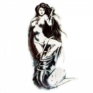 Tatuaj temporar, Sirena, GF1016, 16.5 x 9 cm