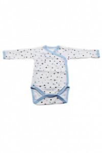 Body copii cu maneca lunga si manusi, Imprimeu stelute, 3 - 6 luni, BM36BM7