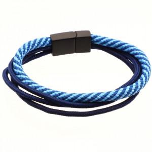 Bratara din material textil, Albastru, 21 cm