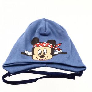 Caciula pentru baieti, imprimeu Mickey Mouse, 1-3 ani, Albastru