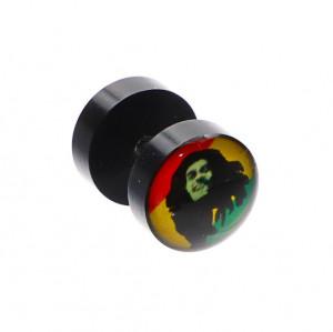Cercei pierce cu doua fete, Bob Marley, 1 cm