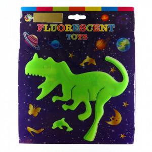 Decoratiune pentru camera copilului, Dinozaur fosforescent, Verde