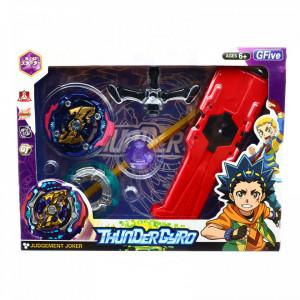Jucarie lansator tip BeyBlade Thunder Gyro, Multicolor