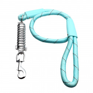 Lesa cu amortizor pentru caini de talie mare, Bleu, 120 cm