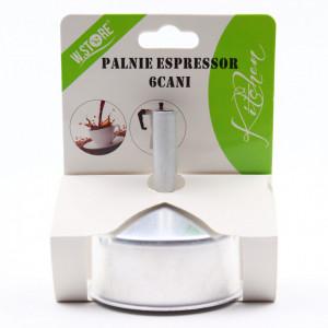 Palnie pentru espressor de cafea pentru aragaz, 6 cesti
