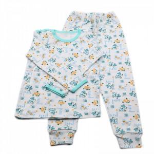 Pijamale copii, Model catelusi bleu, Model Romanesc, Bumbac, 5 - 6 ani, P56P8