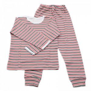 Pijamale copii, Model dungulite rosu gri, Model Romanesc, Bumbac, 2 - 3 ani, P23P3