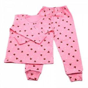 Pijamale copii, Model roz cu Mickey, Model Romanesc, Bumbac, 4 - 5 ani, P45P5