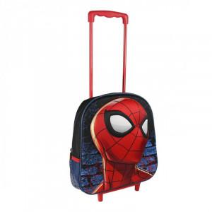 Rucsac cu roti si maner 3D, Spiderman, 34 x 27 cm