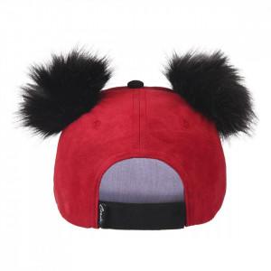 Sapca Mickey cu pampoane, Rosu, 56 cm