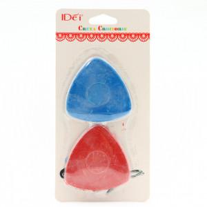 Set 2 buc, Creta croitorie, Rosu si albastru