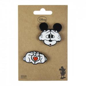 Set 2 insigne Mickey, Disney, 5 x 4.5 cm