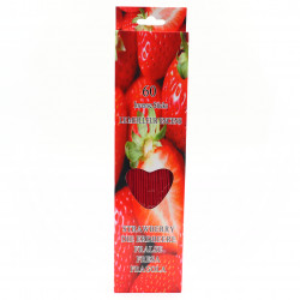 Set 60 buc, Betisoare parfumate, aroma Capsuni, 26 cm