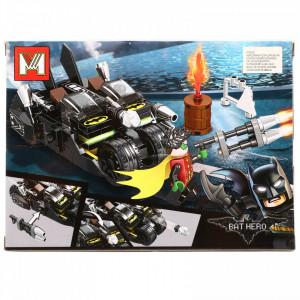 Set de constructie, Batman si Robin in batmobilul de teren, 143 piese