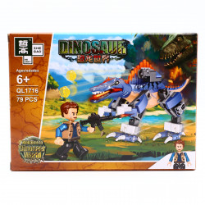 Set de constructie, Dinozaurul fioros si vanatoarea de comori, 79 piese