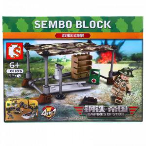 Set de constructie, Eroii Armatei si fortul medical, Sembo, 92 piese